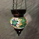 Moroccan lantern mosaic hanging lamp glass chandelier light lampen candle m 004