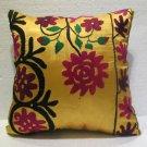 Antique handmade suzani embroidery cushion KELIM kissen 17.2'' x 17.2'' (s 01)