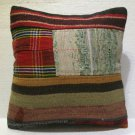Antique patchwork kelim kissen sofa throw pillow cover tribal rug cushion 29