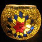mosaic glass table lamp tischlampe moroccan lantern lampe mosaique candle 24