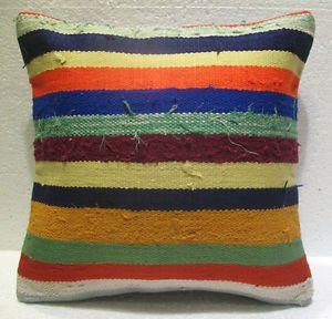 Antique Decorative Couch Throw Pillow Turkish Kilim Rustic Cushion 16.4'' n 25