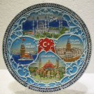 Hagia sophia blue mosque Galata tower The Maiden's Tower wall hanging plate 2