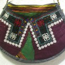 Wine red embroidery bag suzani fabric antique Turkish bag vintage purse c 015