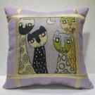 Smart cats pillow cushion home decor modern decoration sofa cover throw 43