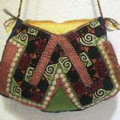 Wine red emroidery fine suzani purse antique Turkish bag vintage purse c 032