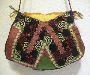 Wine red emroidery fine suzani purse antique Turkish bag vintage purse c 032