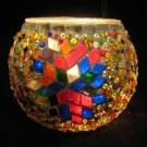 mosaic glass table lamp tischlampe moroccan lantern lampe mosaique candle 20