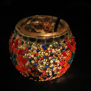 Moroccan Lantern, Table lamp, Turkish Lamp, Night Shade, Mosaic Candle holder 33