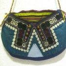 Vintage bag embroidery bag suzani fabric antique Turkish bag vintage purse c 028