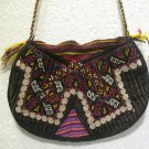 turkish bag embroidery bag suzani fabric antique vintage bag vintage purse c 08