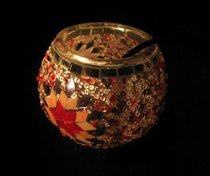mosaic glass table lamp tischlampe moroccan lantern lampe mosaique candle 29