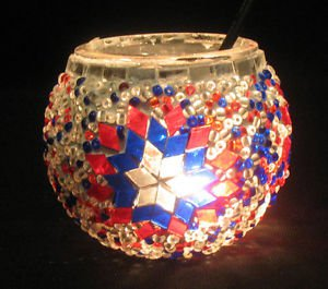 mosaic glass table lamp tischlampe moroccan lantern lampe mosaique candle 18