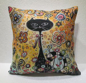 Smart cat pillow cushion home decor modern decoration sofa cover throw 45
