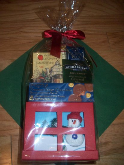 Chocolate Lover's Holiday Basket with a Box of 8