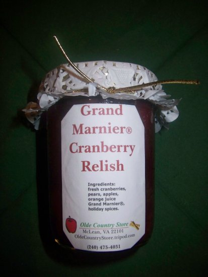 Olde Country Grand Marnier� Homemade Cranberry-Orange Relish, 8 oz