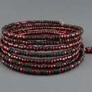 Memory Wire Wrap Bracelet Brown - Bronze, 7 Strands