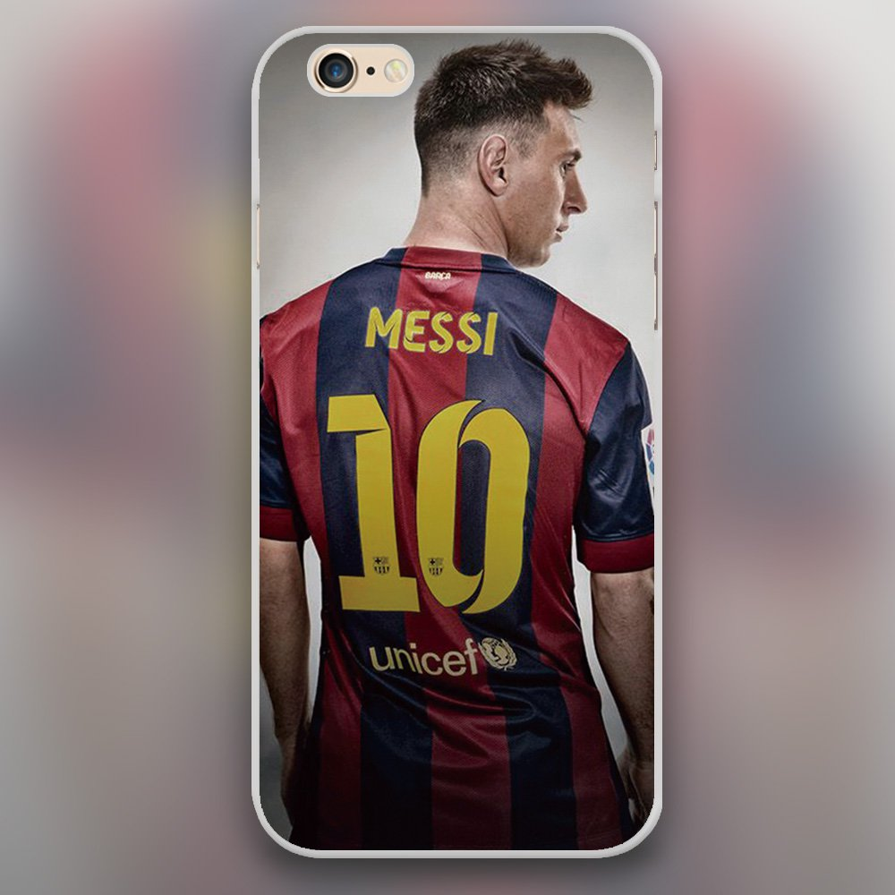 Messi Hard Transparent Clear Case for iphone 4 5 6 6 plus