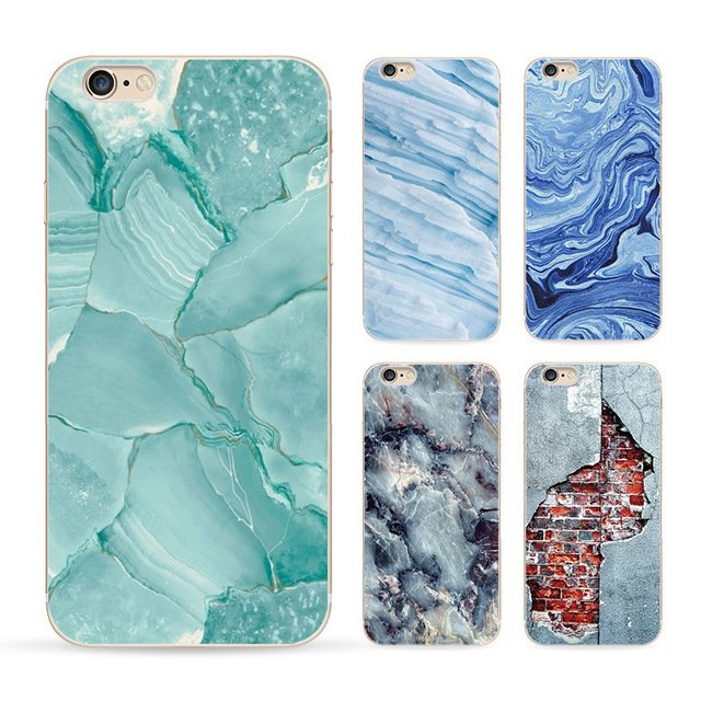 Marble Image Painted Landscape Cover for iphone 4 5 6