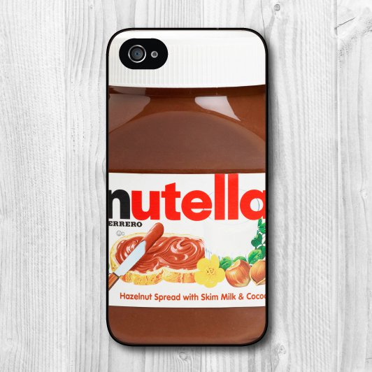 Nutella Chocolate Hazelnut Spread Cover Case for iPhone 4 4s 5 5s 5c 6 Plus