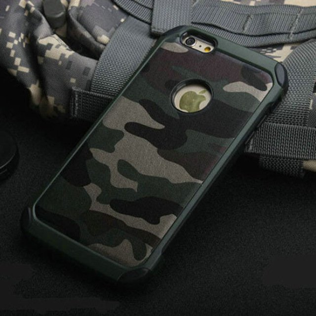 Army  Camouflage Pattern back cover Hard Plastic for iphone 5 6 6 plus Case