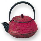 Red Hobnail Teapot