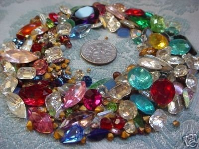 VINTAGE Rhinestones-Stones MIX For Rhinestone Jewelry Repair-Beading WHOLESALE LOT