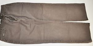 Women Lee Relaxed Straight Leg at the Waste Brown Jeans Size 16M