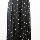 Black Liz Claiborne Skirt with White Tulips Size 10