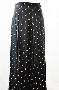 Black Liz Claiborne Skirt with White Tulips Size 10