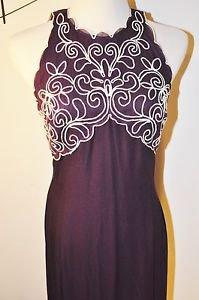 Scott Mcclintock Plum Formal Dress With white trim left slit