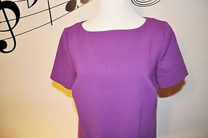 Liz Claiborne Purple Short Sleeve Dress w/ Pockets