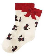 Glamour kitty socks
