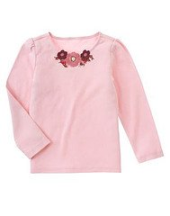 Girl detective Floral neck tee size 3