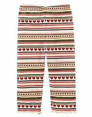 Mountain Cabin Heart Strip leggings size 5