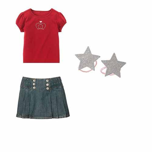 School Girl Rocks 3 pc LOT-Size 5