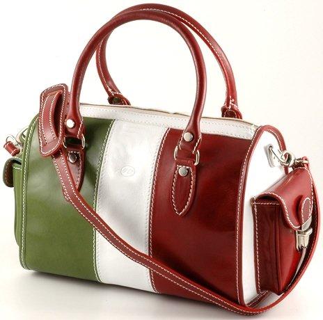 """marta"" Italian Leather Boston Bag"
