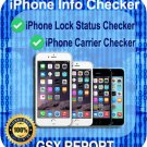 iPhone Lock Status Carrier Check - SIM-Status Checker -GSX Report