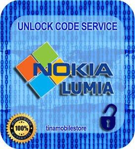 BELL CANADA Nokia Lumia 520 635 720 830 920 950 1020 1520 Unlock Code