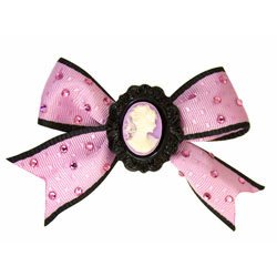 BRAND NEW TARINA TARANTINO LUCITE CAMEO BOW ANYWHERE CLIP **FREE US SHIPPING**