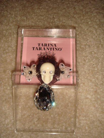 BRAND NEW TARINA TARANTINO SKULL HAIRCLIP WITH LARGE CRYSTAL DROP  **FREE US SHIPPING**