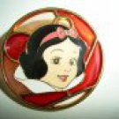 Japan Disney JDS Snow White Stained Glass Circle Pin ~Rare~