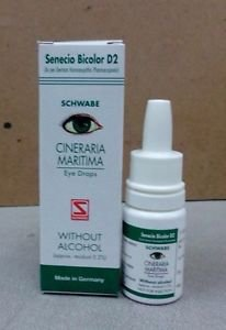 2x Cineraria Maritima Schwabe Eye Drops 10mL - Without Alcohol