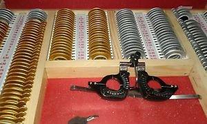 225 Aluminum Rim Trial Lens Set + Wooden Case + Trial Frame
