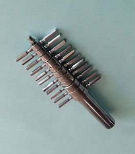 Cork Borer 12 Set Heavy Nickel Plated Brass 4mm to 25mm