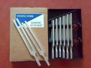 Tuning Fork Set of 8 Aluminium Harmonic Educational