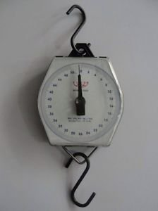Mechanical Hanging Scale 50 Kg Metal Body Robust Heavy