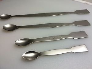 """Lab Stainless Steel Spatula spoon 4 Set 5"""" 6"""" 8"""" 10"""" USA SHIPPING"""