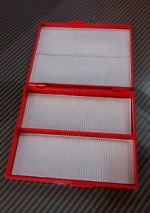 Microscope Slide Storage Plastic Box Case 100 Slot Index