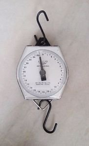 Mechanical Hanging Scale 25Kg Metal Body Robust Heavy