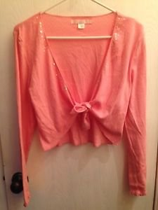 Victoria's Secret Cardigan Lightweight-pink-size M